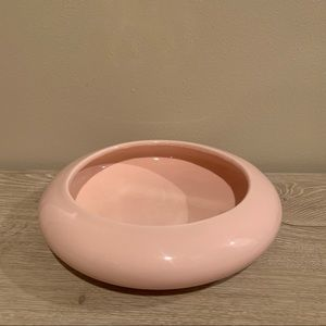 Vintage Art Deco large pale pink vase planter